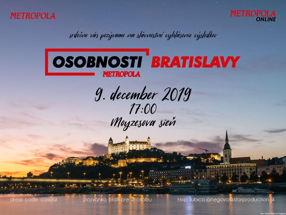 Osobnosť Bratislavy 2019